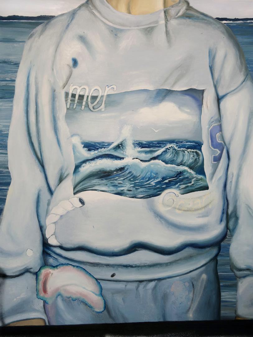Mireille Blanc, Sweat-shirt (Mer, océan), 2019