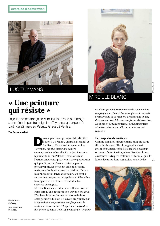Mireille Blanc / Luc Tuymans