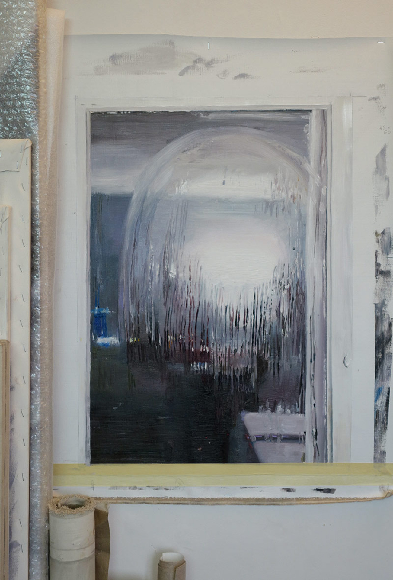 Mireille Blanc, studio view, 2014